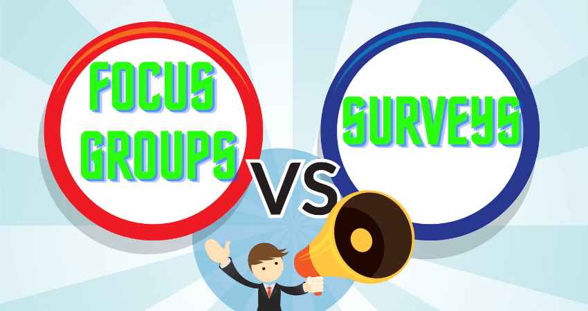 focus groups vs surveys